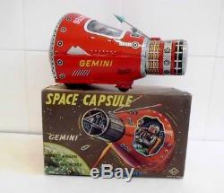 Space Capsule Gemini vintage tin toy circa 1965 SH Japan MIB