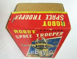 Space Trooper Robot Tin Japan Vintage