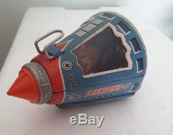 Tin Toy Sh Horikawa Space Capsule Friend Ship 7 Kts Astronave Latta Vintage