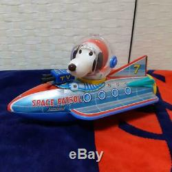 Tin Toy Snoopy Space Patrol PEANUTS 60's Vintage MADE IN JAPAN Rare F/S