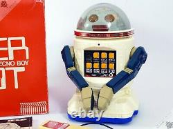 Tomy Personal Omnibot Mister Donut Robot Verbot Vintage Japanese Space Toy