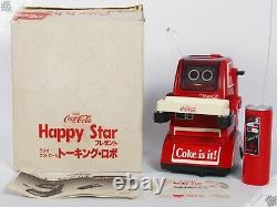 Tomy Personal Robot Omnibot Coca-cola Coke Chatbot Vintage Japanese Space Toy