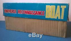 UFO RECONNAISSANCE BOAT Astronave latta(Space Tin Toy)60's Vintage IN BOX rare