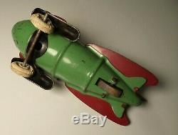 VINTAGE 1930's WYANDOTTE PRESSED STEEL TOY ROCKET SPACE SHIP BUCK RODGERS