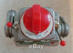 VINTAGE 1960s HORIKAWA JAPAN MACHINE TINPLATE'GEAR ROBOT' RETRO SPACE TOY