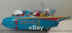 VINTAGE 1960s YANOMAN JAPAN BATTERY OPERATED'SPACE SCOUT S-17' SPACE TOY