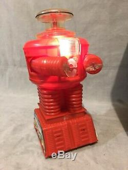 VINTAGE 1966 LOST IN SPACE TOY Motorized ROBOT By REMCO In Box Working Condition