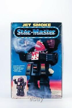 VINTAGE 80's SPACE TOY ROBOT JET SMOKE STAR MASTER Battery operated CHINA 12'