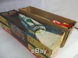 VINTAGE BATTERY POWER SPACE ROCKET SOLAR-X JAPAN TOY WithORIG BOX 977