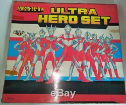 VINTAGE BOOTLEG Ultraman 6 SET OF 7 FIGURES CLOVER POPY BULLMARK TAKATOKU KO