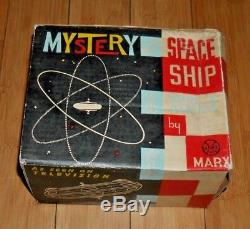 VINTAGE LOUIS MARX MYSTERY SPACE SHIP GYRO POWERED TOY 1960's BOXED RARE C636