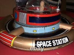 VINTAGE Made In Japan TIN LITHO SPACE Station Planet Y With Box Works! B. O