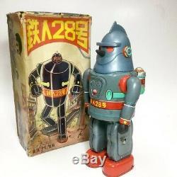 VINTAGE NOMURA TETSUJIN 28 GIGANTOR Batt Op TIN Robot 13 POPY BULLMARK TAKATOKU