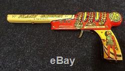 VINTAGE ORIGINAL 1950S FLASH GORDON ARRESTING RAY Tin GUN BY MARX