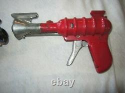 VINTAGE PAIR ORIGINAL ATOMIC RAY GUN, ZZ RAY SPACE TOY 1950s, Buy NowithGood-OFFER