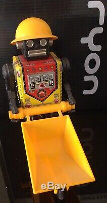 VINTAGE S. H HORIKAWA BUSY CART ROBOT 1960s Japan SPACE TIN BATTERY -OP