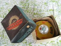 VINTAGE SPACE TOY SAUCER METEOR 70s BATTERY OPERATED ORIGINAL BOX POLAND PALARD