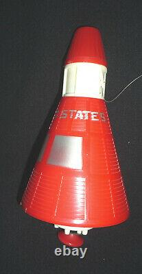 VTG 1950's Jet Age Flying Satellite Rockets Toy Lot withrubber band launcher RARE
