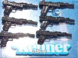 VTG 1984 1985 Star Wars POTF 17 AWing Pilot Death Star Gunner BLACK blaster gun