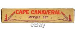 Vintage 1950's Marx Cape Canaveral Space Base Astronaut Rocket Missile Playset