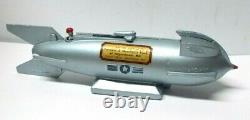 Vintage 1950's Space Mercury Rocket Bank withOriginal Box & Key, Near Mint