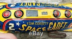 Vintage 1950's Tom Corbett Space Cadet Marx Polaris Wind Up, Works