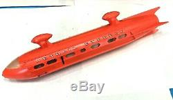 Vintage 1950s Jetrail Express Battery Operated Monorail Toy in Original Box Nice