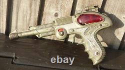 Vintage 1950s Lesney Toy BCM Space Outlaw Atomic Pistol Ray Gun Blaster Toy