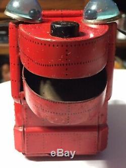 Vintage 1950s Yoshiya KO Japan Friction Robot Space Dog Tin Litho