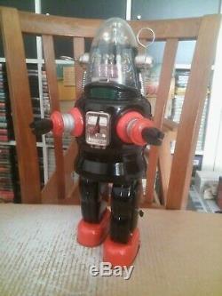 Vintage 1957 NOMURA Showa ROBBY the ROBOT Mechanizet Tin Toys Japan space + Box