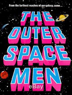 Vintage 1960 Colorforms Aliens Outer Space Men COLOSSUS REX with Original Mace