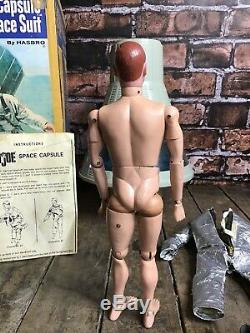 Vintage 1960's Hasbro 12 Gi Joe Official Space Capsule & Figure Suit Hasbro Box