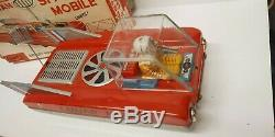 Vintage 1960s Cragstan Space Mobile Lunar Patrol Tin Litho Toy #72840 Japan