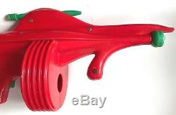 Vintage 1960s Plastic Ray Gun Red Space Rifle Battery-op Australia Big Toy Vgc