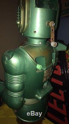 Vintage 1963 Marx Big Loo GIANT SPACE Monster Robot Toy Grail Battery Op