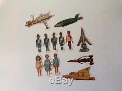 Vintage 1965 Harbutts Thunderbirds Plasticine Model Set Gerry Anderson Space Toy