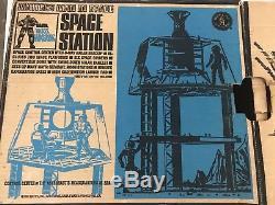 Vintage 1966 Mattel Matt Mason Man In Space Space Station With Box + 2 Matt Masons