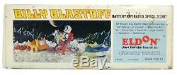 Vintage 1968 Eldon Billy Blastoff Astronaut B/O Space Scout Complete withBox Works