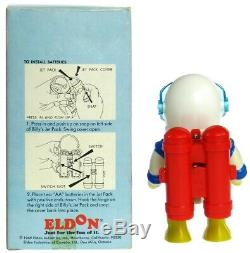 Vintage 1969 Eldon Billy Blastoff Space Scout Astronaut withJet Pack & Box Works