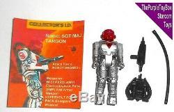 Vintage 1980's Starcom Toys SGT MAJ. TARGON Robot Drones CUSTOM