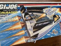 Vintage 1989 GI Joe Crusader Space Shuttle Avenger Scout Craft With Payload In Box
