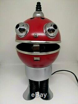 Vintage 70S Space Age Robot Tin Desk Table Lamp. Rare