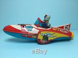 Vintage 70s Masudaya Tin space ship GREAT MAZINGER yonezawa popy bullmark
