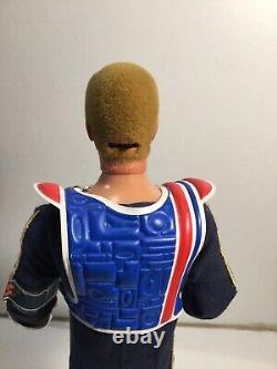 Vintage Action Man Taking Space Ranger Eagle Eyes Blonde Flocked Hair Working 75