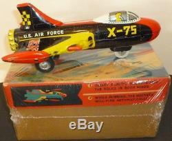 Vintage Atomic Fighter X-7 Supersonic Rocket Firing Tin Japan Original Box W Toy