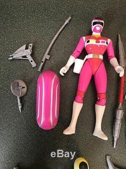 Vintage Bandai Power Rangers In Space Lightstar Figures Lot Set 7 Complete