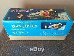 Vintage Cragstan Daiya Tin Litho Space Captain Apollo NASA Battery Operated