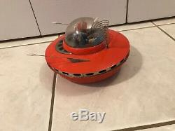 Vintage Cragstan Friction Flying Saucer. Works! FREE SHIPPING TO CANADA AND USA