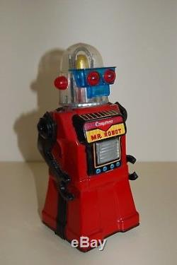 Vintage Cragstan, Mr Robot Futuristic Space Tin Toy, Japan circa1960