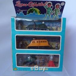Vintage Delaware Lunar Exploration Space Ships Men Boxed Toy Hong Kong No. 704